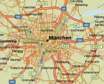 Munich transportation guide bus train or taxi